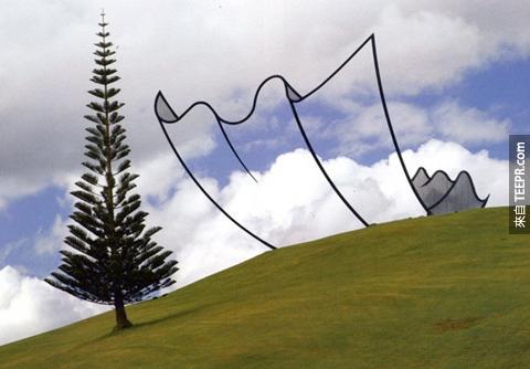 17.這是在紐西蘭的裝置藝術,太酷了!