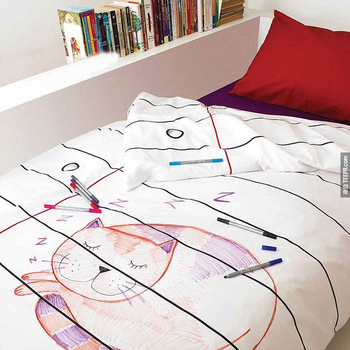 20個最酷最有創意的床罩會讓你每天迫不及待地想要睡覺。#2怎麼可以這麼完美?!