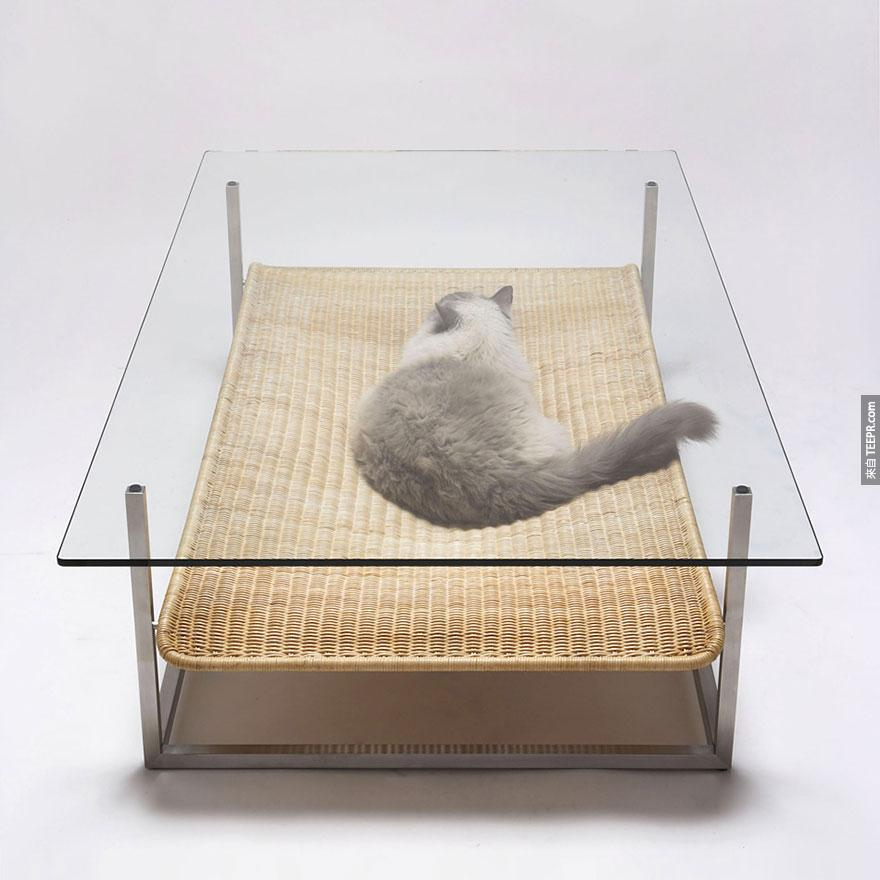 咖啡桌+貓咪吊床