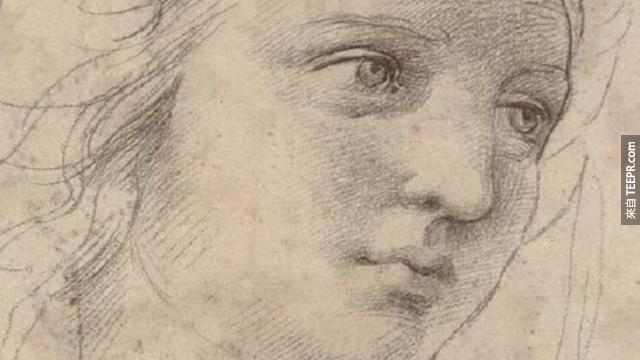 拉菲爾繪製的繆思女神的頭,要價4790萬美元。