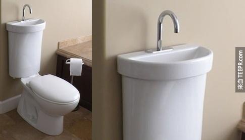 1.二合一環保效能馬桶。