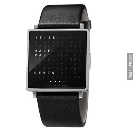 13.以文字顯示時間的手錶~
