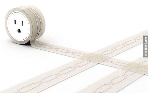 16.可安裝在地毯下的平面延長線。