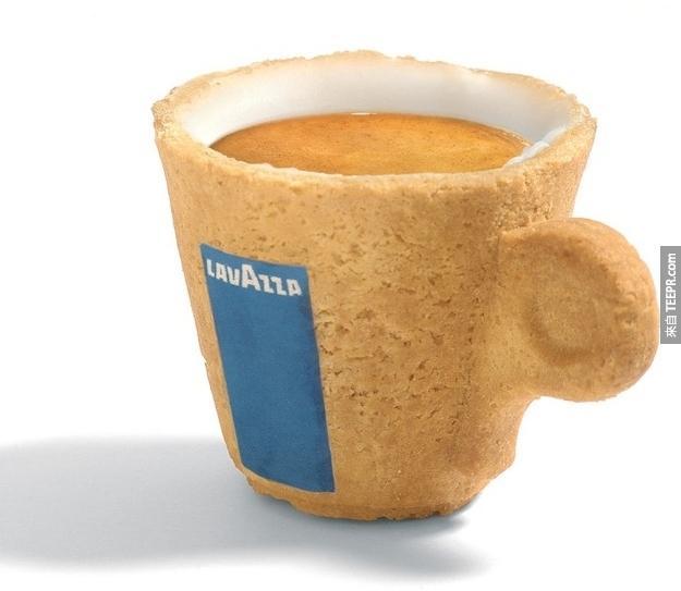 9.可食用咖啡杯。