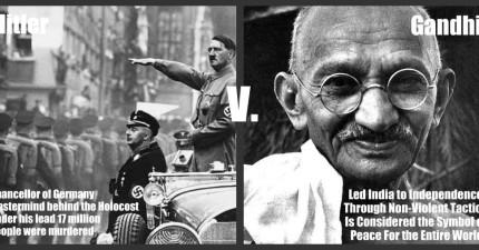 這封就是甘地在二次世界大戰前寫給希特勒的信。