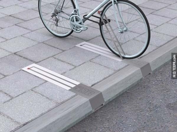 26.)便利腳踏車架,沒使用時完全不占空間。
