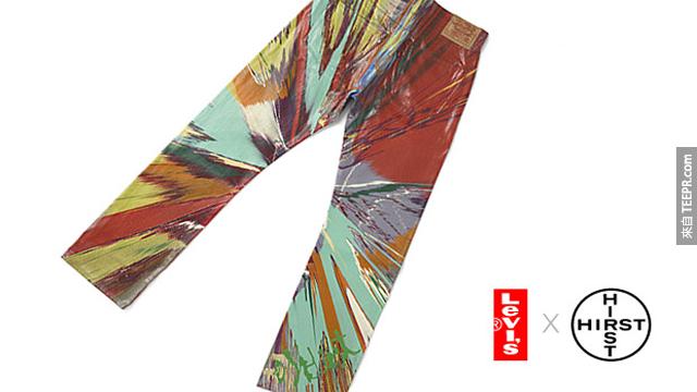 由英國藝術家Damin Hirst設計,全球只有8條的牛仔褲,要價2萬7美元。