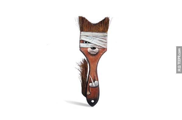 Poor little fox/brush!