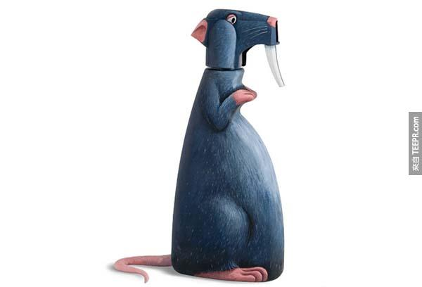This rat used to be a spray bottle.