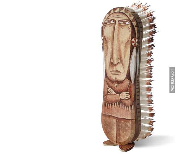 This brush was made to be painted into a stern chief.