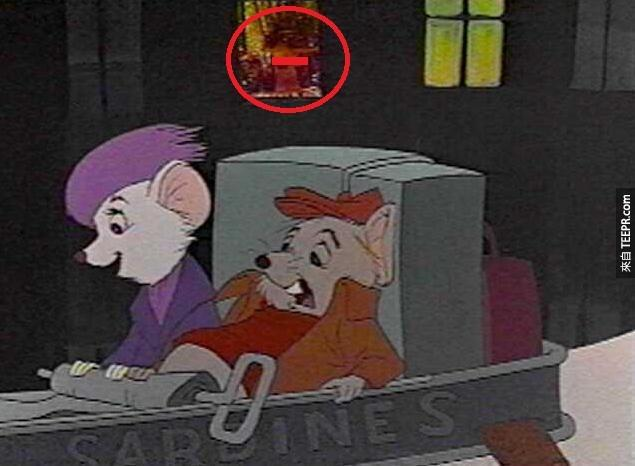 救难小英雄中,一张裸女的照片被藏在两个画面之中,这让迪士尼紧急招回了340万卷的电影。
