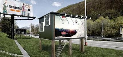 這不只是一個廣告看板,它還是解決無家可歸的方法。
