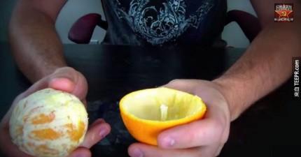 柳丁不好剝或是汁噴得亂七八糟嗎?讓這個瘋狂俄羅斯老兄教你怎麼剝才正確。