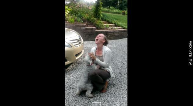 這隻狗狗重逢2年沒見的家人,他開心的舉動看得我熱血沸騰!