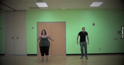 這個女生自嘲是胖妹,但是我看完她跳的舞後,她真的太HOT了!