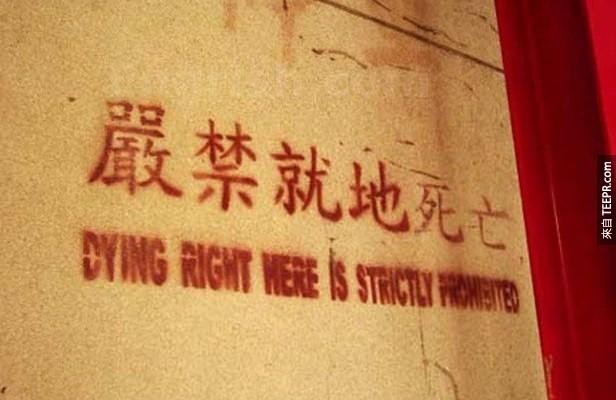 這36個翻譯的牌子已經失敗到反而變得超棒的!我的眼睛已經笑到張不開了...