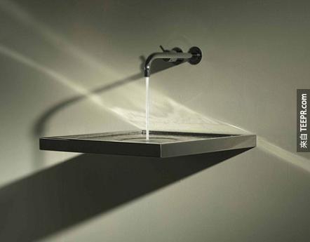 太神奇了!沒有排水管的洗手台!