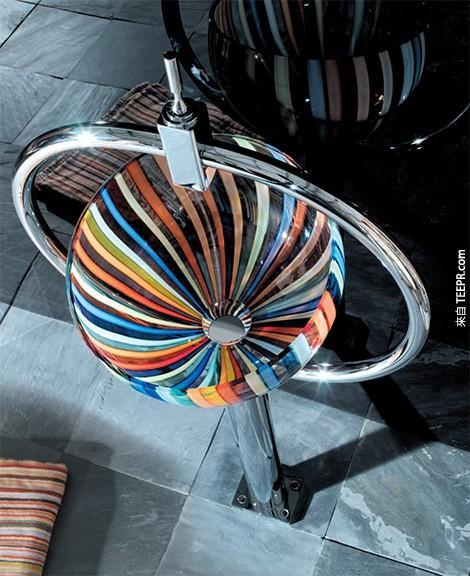 26個實用性不高但是時尚感100分的洗手台。