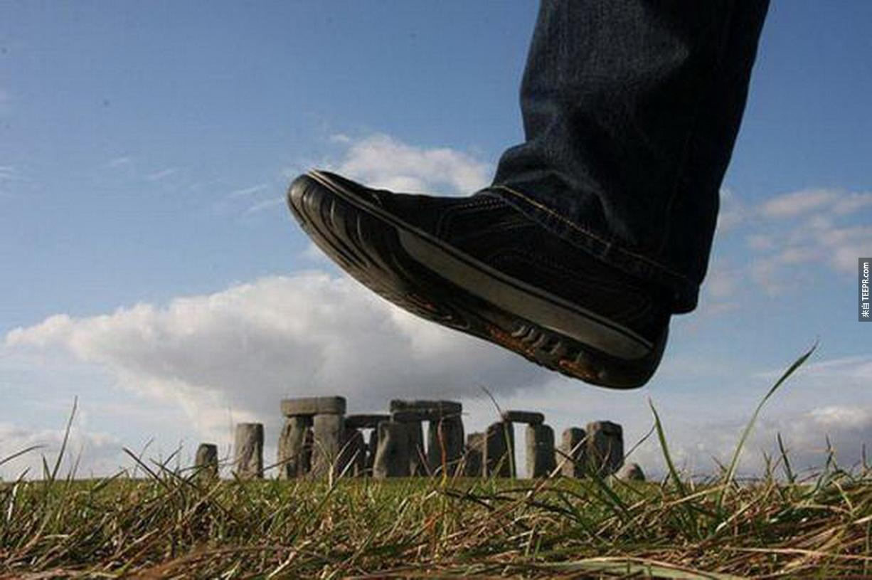 20.) Watch out below! -Stonehenge, England