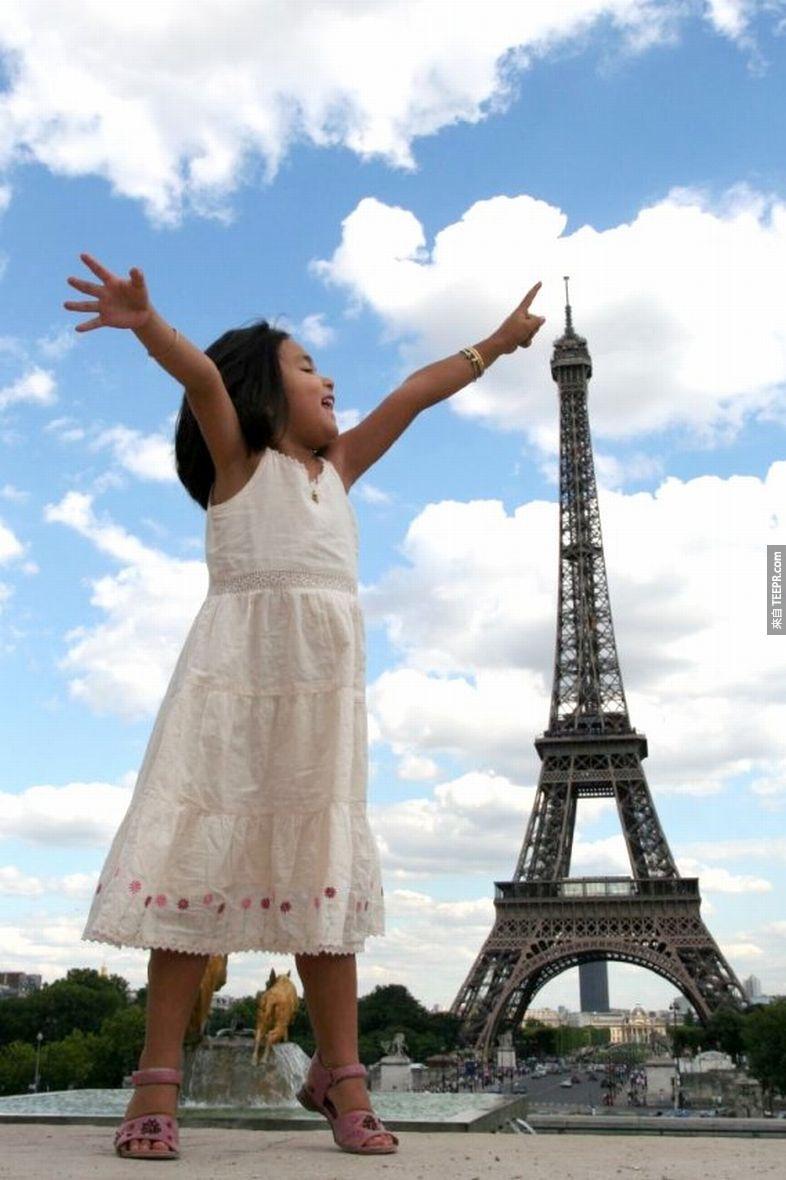 26.) On her tip toes. - Paris, France