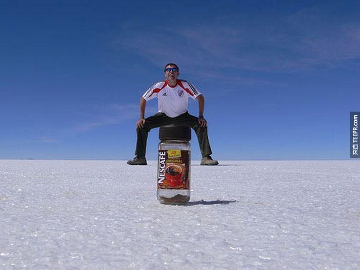 4.) Looks comfortable. - Salar de Uyuni, Bolivia