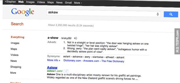 16個Google的小秘密會讓你的朋友都超愛你的。現在馬上用Google搜尋tilt看看!