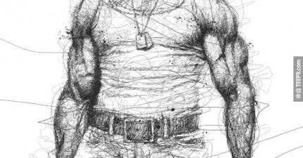 這名插畫家有極度閱讀障礙,這就是為什麼只有他才能畫出這種風格的作品。