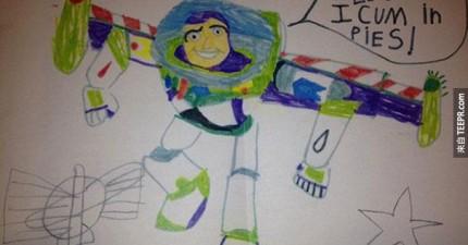 這就是大家都在討論的22件兒童畫作。畫裡的錯誤讓我笑翻了!