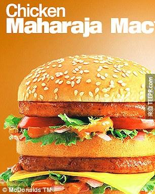 20. For the meat eating Indian fast food fans, the Maharaja Mac is basically a spicy chicken version of the Big Mac. (Sorry, no beef fans, none of that here.)
