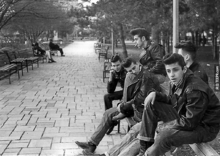 一幫在紐約,1950 greasers的。