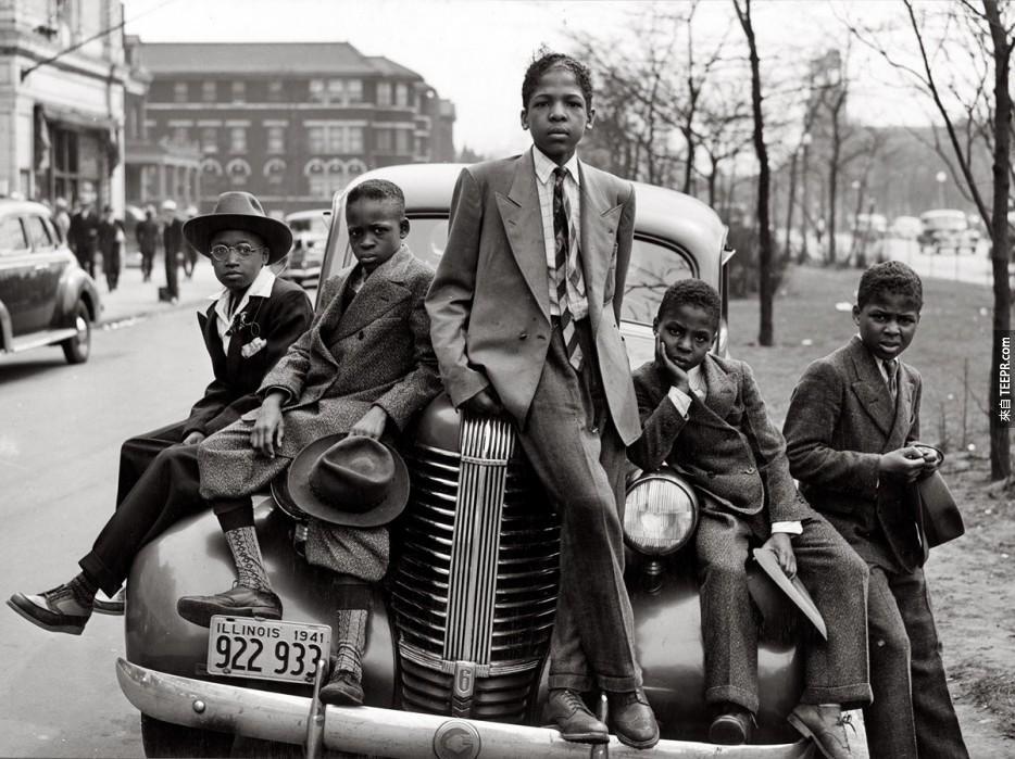 芝加哥(1941年)的兒童。