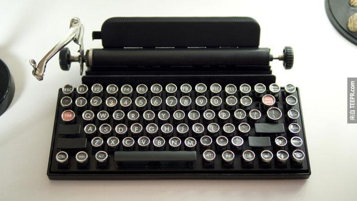 這個復古鍵盤會讓你成為所有人的焦點。