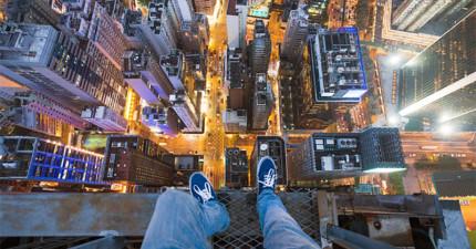這兩個年輕人在香港大樓上做的事情簡直就是犯法,但真的是太酷了!