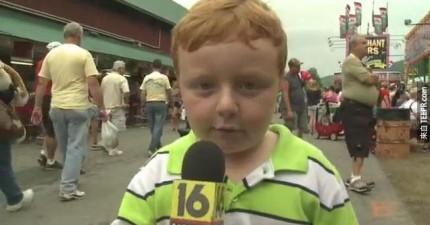 「很明顯」小朋友Noah Ritter的現場直播造成全世界轟動。你看過就會知道為什麼了。