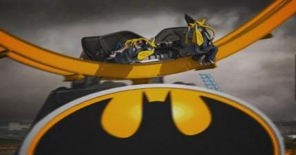 這個最創新的4D蝙蝠俠雲霄飛車會讓你吐到不行。光看都覺得暈!
