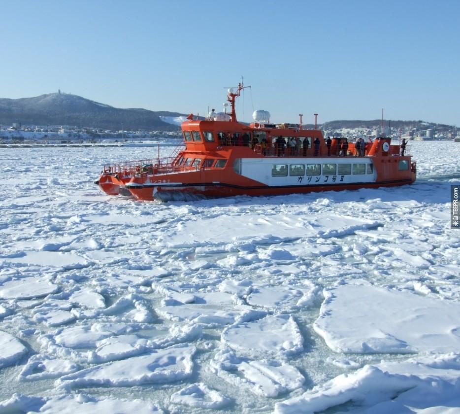 北極圈的破冰船尋航:北極海(Arctic Ocean)