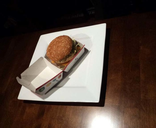 Each contestant was attempting to transform a Big Mac meal into something fancy.