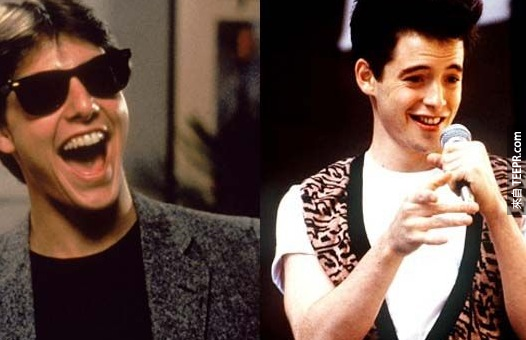 17. 蹺課天才(Ferris Bueller)原本是要由湯姆·克魯斯(Tom Cruise)演的呢!