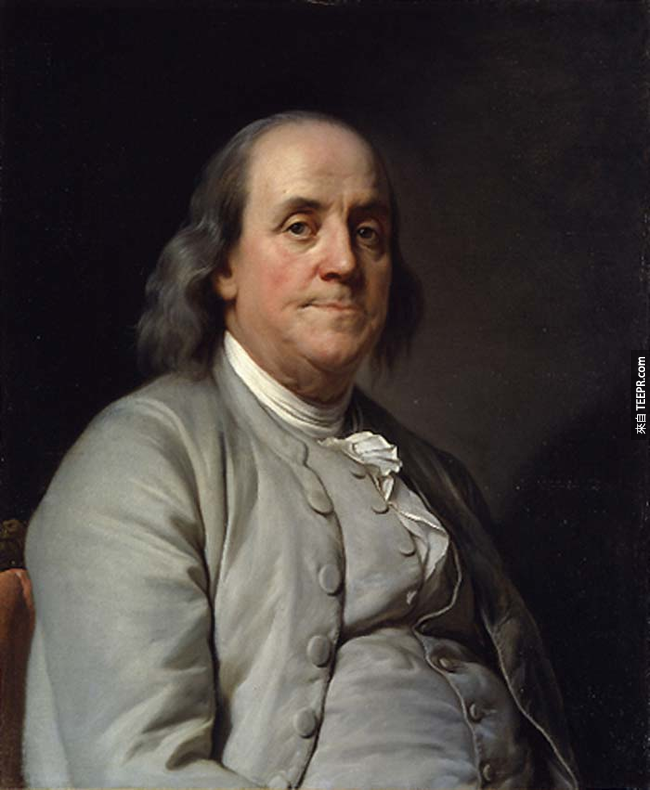 20.) 班傑明·富蘭克林( Benjamin Franklin )