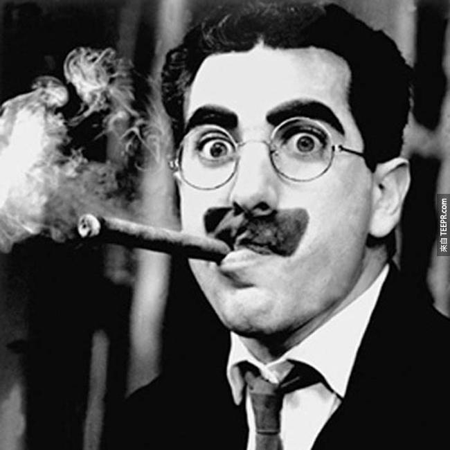 8.) 格魯喬.馬克思 ( Groucho Marx )