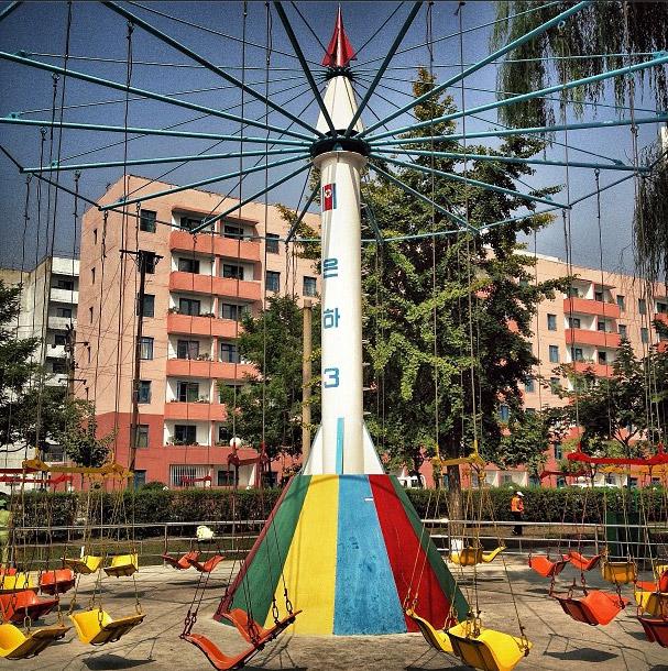 公園模仿銀河3號的遊樂設施。