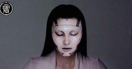 女生以後不用化妝或是PS,用這個「電子妝」就可以了。太酷了!