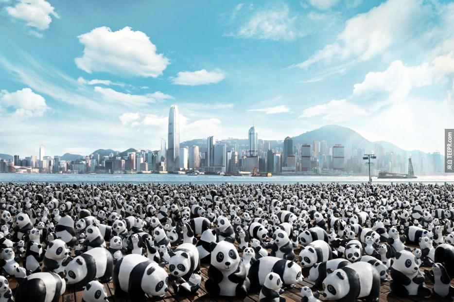 1,600 隻熊貓