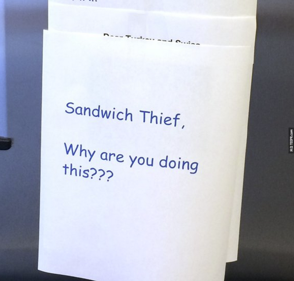 5. 三明治失主:「為什麼你要這麼做?」
