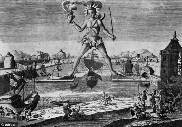 超自然現象研究家Tom Rose表示,在古老的羅得島太陽神銅像(Colossus of Rhodes)於公元前226年因地震而傾倒之前,傳聞中的雕像身形跟月球上的陰影有不謀而合的相似。