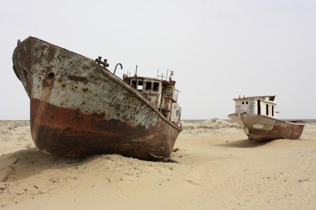 7.) 鹹海沙漠,烏茲別克斯坦
