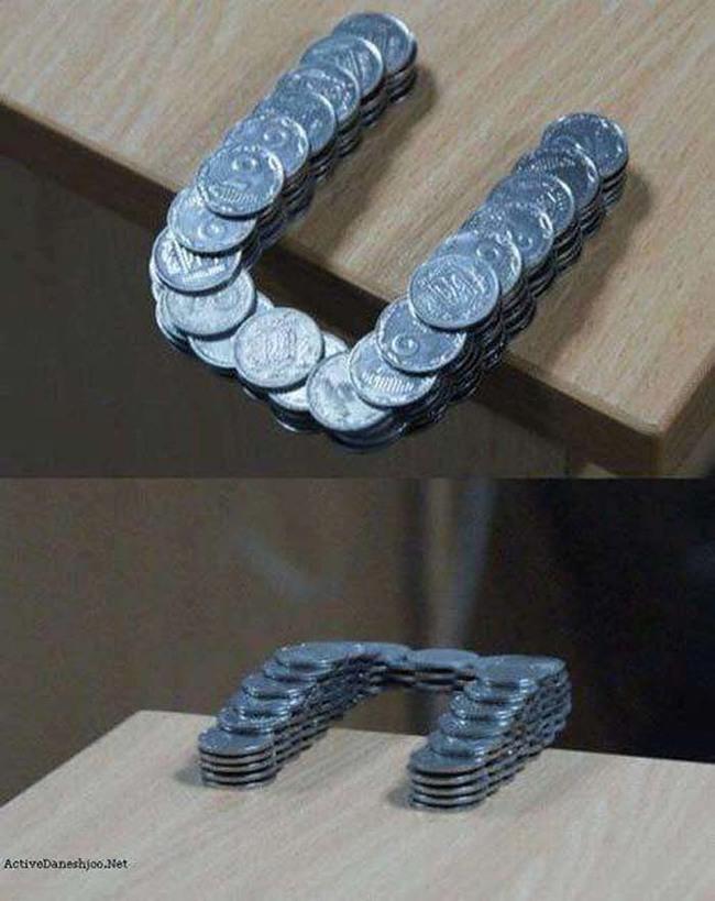 用一堆硬幣居然能做出這麼驚人的東西。