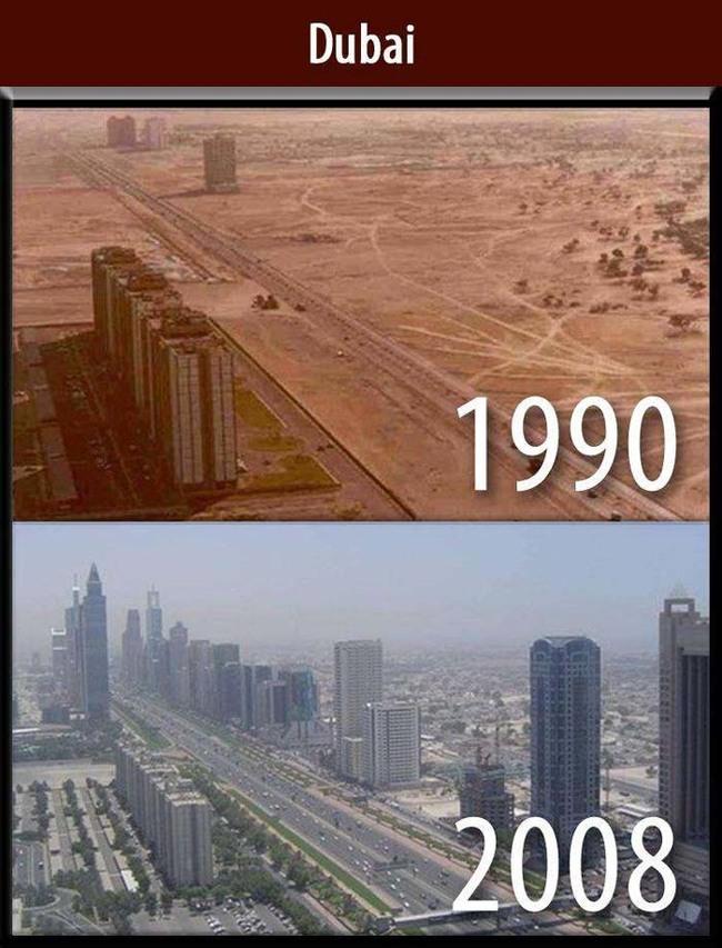 十年間變化之大的杜拜。
