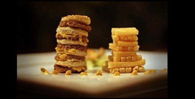 Another view of the delicious stacks.