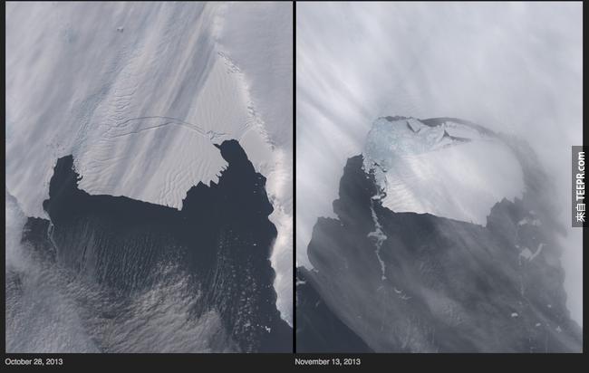6)冰川產犢 - 南極